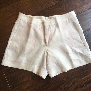 Joie Linen Shorts Ivory Size 4